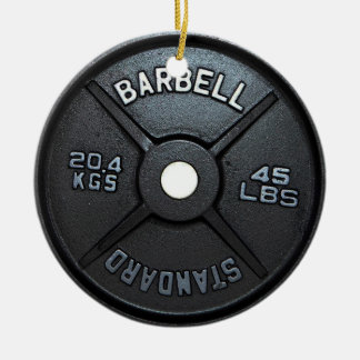 Barbell Plate Tree Ornament