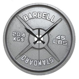 Barbell Plate Wall Clock