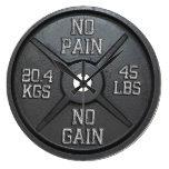 Barbell Plate Wall Clock - No Pain No Gain