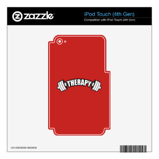 Barbell - THERAPY - Workout Inspirational Skin For iPod Touch 4G
