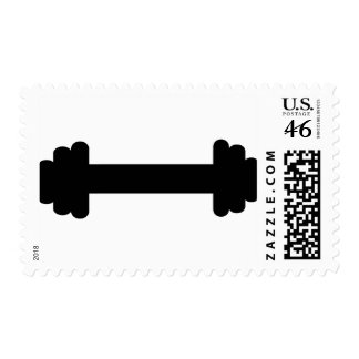 Barbell – weightlifting stamp