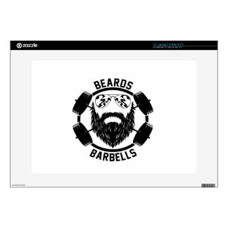 "barbells beards decals for 15"" laptops"