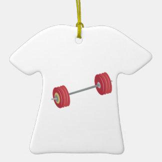 Barbells Adorno De Cerámica En Forma De Camiseta