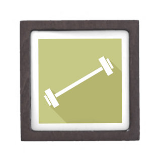 Barbells Weight Lifting Workout T-shirt Graphic Jewelry Box