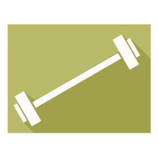 Barbells Weight Lifting Workout T-shirt Graphic Postcard
