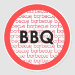 Barbeque bbq red black circle stickers