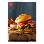 Barbeque Burgers Stationery Note Card