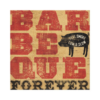 Barbeque Forever Stretched Canvas Prints