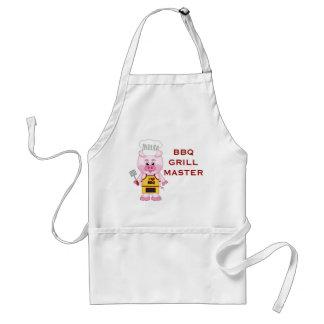 Barbeque Grill Master Funny Cartoon Pig BBQ Adult Apron