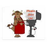 Barbeque Invitation - Please Join Us! Postcard