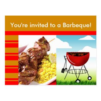 Barbeque Invitation Postcard