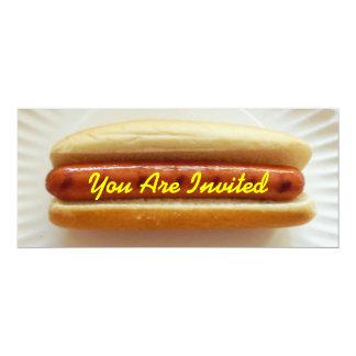 "Barbeque Invitation - Skinny Hotdog 4"" X 9.25"" Invitation Card"