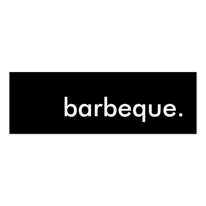barbeque. mini business card