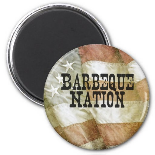 Barbeque Nation USA (with a Q) Refrigerator Magnets