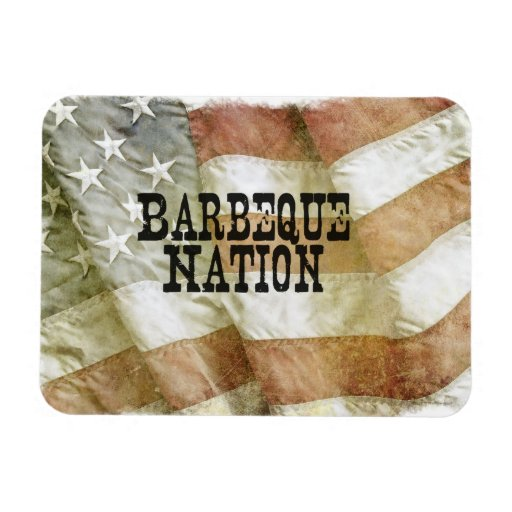 Barbeque Nation USA (with a Q) Vinyl Magnets