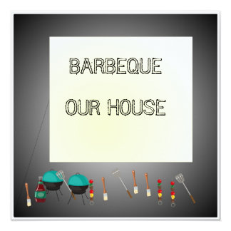 Barbeque Our House>Celebration Invitation Card