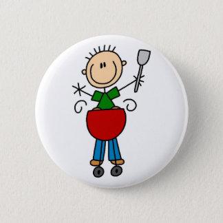 Barbeque Stick Figure Button