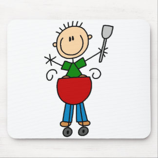 Barbeque Stick Figure Mousepad