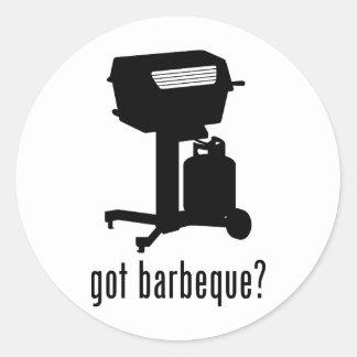 Barbeque Round Stickers
