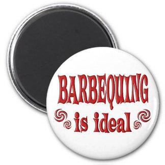 Barbequing es ideal imán de frigorifico