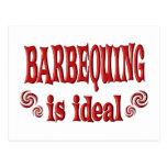 Barbequing es ideal postales