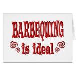 Barbequing es ideal tarjeta