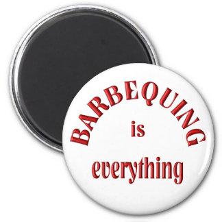 Barbequing es todo imanes de nevera