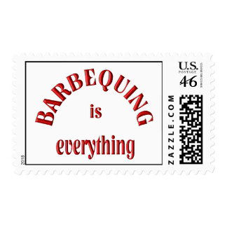 Barbequing is Everything Postage Stamps