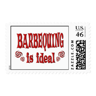 Barbequing is Ideal Postage Stamp