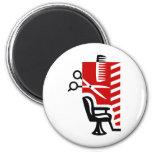 Barber 2 Inch Round Magnet