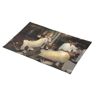 Barber - A time honored tradition 1941 Placemat