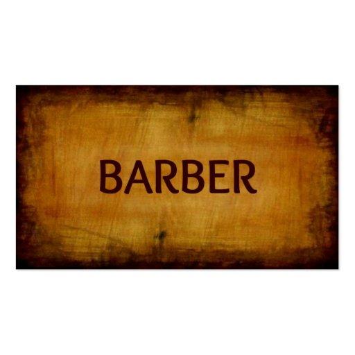 Barber Business Cards : Barber Antique Brushed Business Card Zazzle