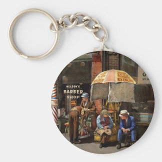 Barber - At Nelson's Barber Shop 1937 Keychain