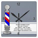 Barber, Barber Shop Wall Clock