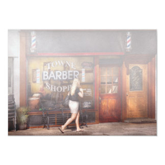 Barber - Barbershop - Time for a haircut Card