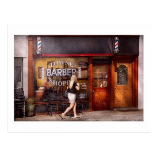 Barber - Barbershop - Time for a haircut Postcard