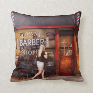 Barber - Barbershop - Time for a haircut Throw Pillow