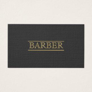 Barber Bold  Black Gold Modern Professional Simple Business Card