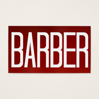 Barber Bold Red Business Card