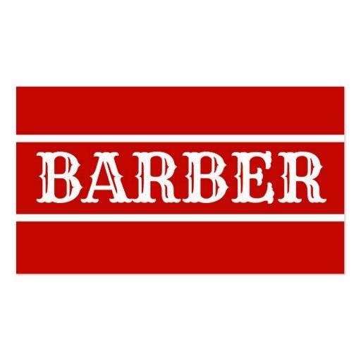 Barber Business Card
