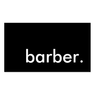 barber. Double-Sided standard business cards (Pack of 100)