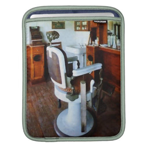 Barber Chair and Cash Register iPad Sleeves