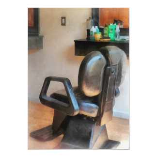 Barber Chair and Hair Supplies Personalized Invite