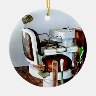Barber Chair Ceramic Ornament