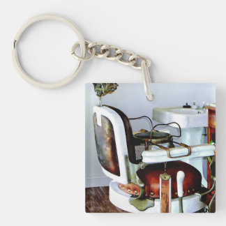 Barber Chair Double-Sided Square Acrylic Keychain