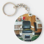 Barber Chair Front View Key Chains