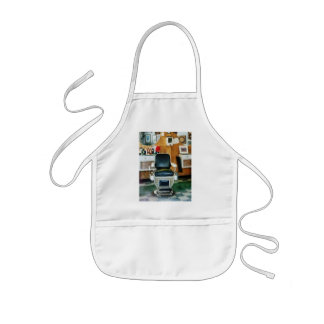 Barber Chair Front View Kids' Apron