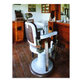 Barber Chair with Cash Register Card