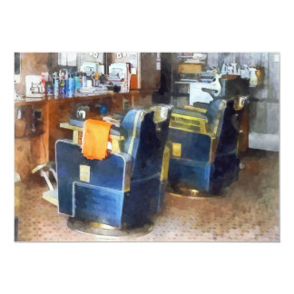 Barber Chair With Orange Barber Cape Cards