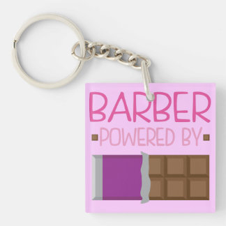 Barber Chocolate Gift for Woman Double-Sided Square Acrylic Keychain